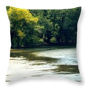 Along The River Throw Pillow