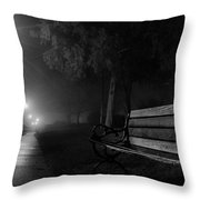 Along The River Walk Throw Pillow