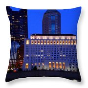 Along The Scioto At Night Throw Pillow