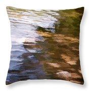 Along The Shore Throw Pillow