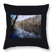 Silver River - Reflections Throw Pillow
