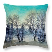 Along The Willamette Throw Pillow