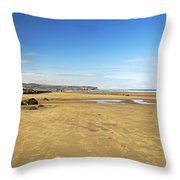 Along Whitby Sands Throw Pillow