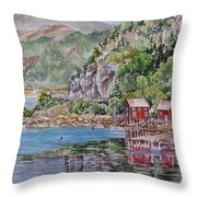 Along_the_coast_of_norway Throw Pillow