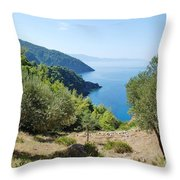 Alonissos Island Throw Pillow