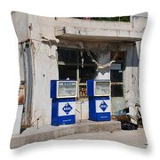 Alonissos Petrol Station Throw Pillow