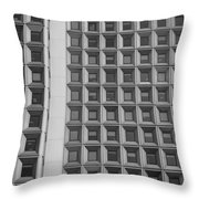 Alot Of Windows In Black And White Throw Pillow