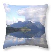 Alouette Lake Reflections - Golden Ears Prov. Park, Maple Ridge, British Columbia Throw Pillow