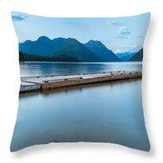 Alouette Lake Dock Throw Pillow