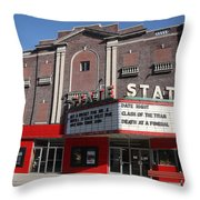 Alpena Michigan - State Theater Throw Pillow