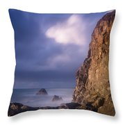 Alpenglow On Wedding Rock Throw Pillow