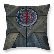 Alpha And Omega Chi Rho Throw Pillow