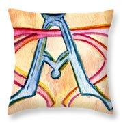 Alpha And Omega - Study #2 Throw Pillow