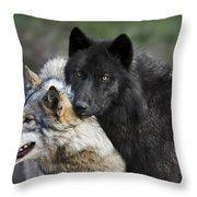 Alpha Couple Throw Pillow