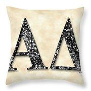 Alpha Delta - Parchment Throw Pillow