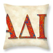 Alpha Delta Gamma - Parchment Throw Pillow