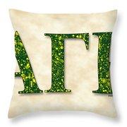 Alpha Gamma Rho - Parchment Throw Pillow