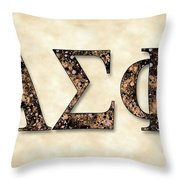 Alpha Sigma Phi - Parchment Throw Pillow