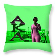 Alpha Sister Throw Pillow