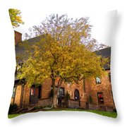 Alpha Tau Omega Fraternity At Washington State University Throw Pillow by David Patterson