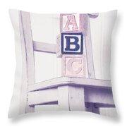 Alphabet Blocks Chair Throw Pillow