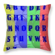 Alphabet With Apples Throw Pillow