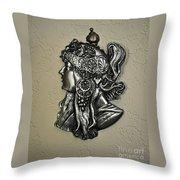 Alphonse Mucha 1860-1939 New Profile Throw Pillow