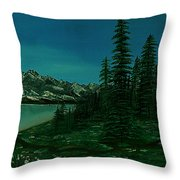 Alpine Garden Throw Pillow