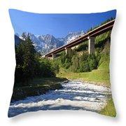 Alpine Highway Throw Pillow