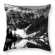 Alpine Lake August 1975 #1 Throw Pillow