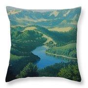 Alpine Lake Throw Pillow