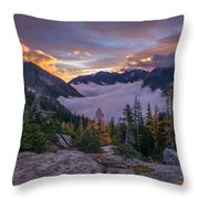 Alpine Lakes Morning Cloudscape Throw Pillow
