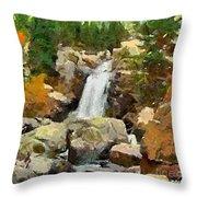 Alpine Torrent Throw Pillow