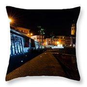 Alpine Village At Night Throw Pillow