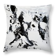 Alps In Black And White Throw Pillow
