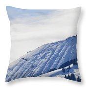Alps Profile Throw Pillow