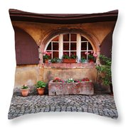 Alsatian Home In Kaysersberg France Throw Pillow by Greg Matchick