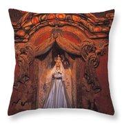 Altar And Madonna Throw Pillow