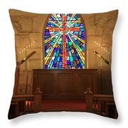 Altar At The Little Church In La Villita Throw Pillow