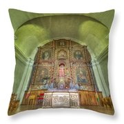 Altar In An Old Chapel Throw Pillow