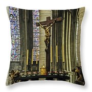 Altar Of Rouen Cathedral Throw Pillow