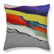 Altered Landscape Throw Pillow