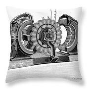 Alternating-current Dynamo Throw Pillow