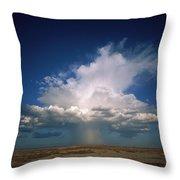 Altocumulus Thunder Head Dumping Rain Throw Pillow