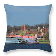 Alton Belle Casino Throw Pillow by Peggy Franz
