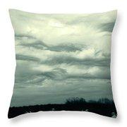 Altostratus Undulatus Asperatus Clouds Throw Pillow