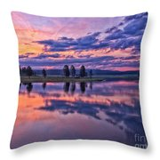Alum Creek Sunrise Throw Pillow