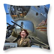 Aluminum Overcast 2 Throw Pillow