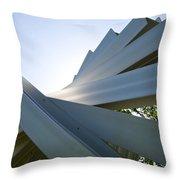 Aluminum Sculpture Detail Throw Pillow