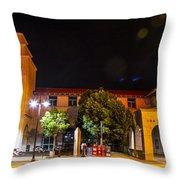 Alvarado Transportation Center Night Throw Pillow